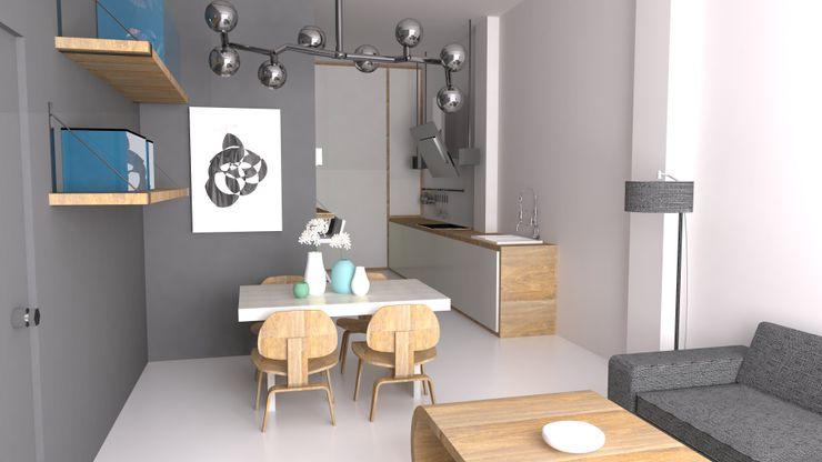 Opción 1 materiales: Salón Comedor Ana Cabo