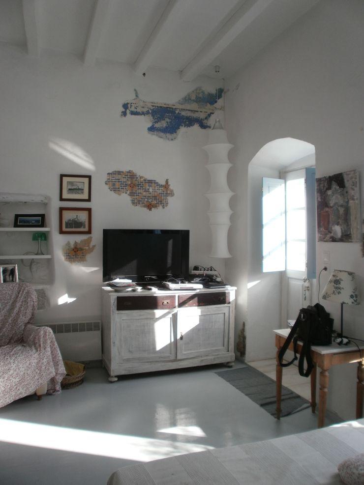affreschi, muri e pavimenti studio patrocchi Ingresso, Corridoio & Scale in stile mediterraneo