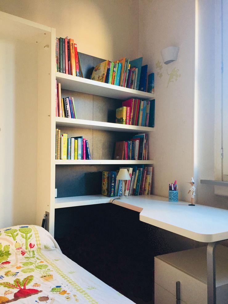 Studio di Architettura, Interni e Design Feng Shui Genç odası Ahşap Bej