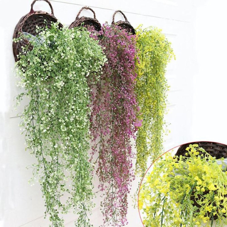 Artificial Hanging Plants Variety Sunwing Industries Ltd Interior landscaping Synthetic Multicolored