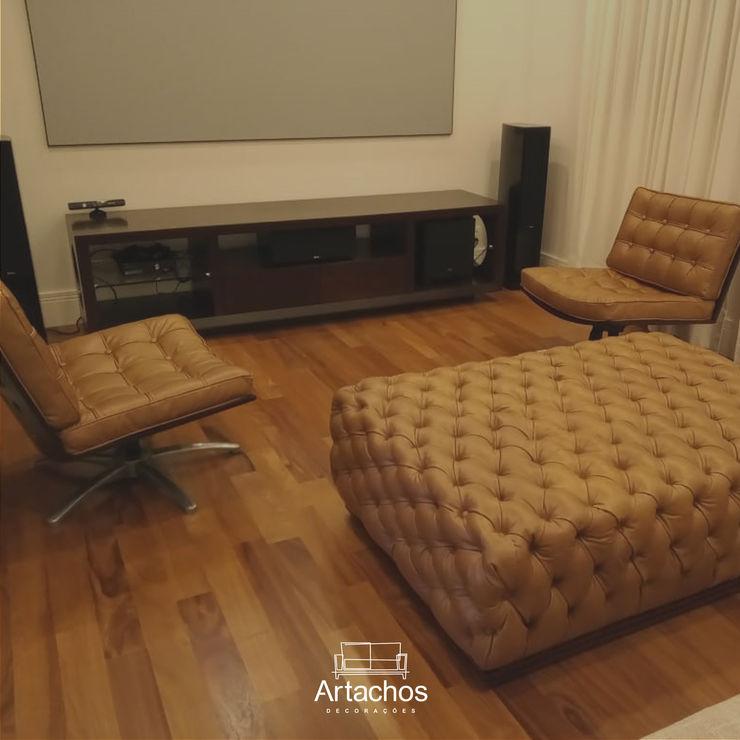 Poltrona de couro Artachos Decorações Sala de estarBancos e cadeiras