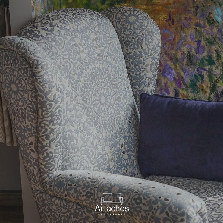 Poltrona Artachos Decorações Sala de estarBancos e cadeiras Azul