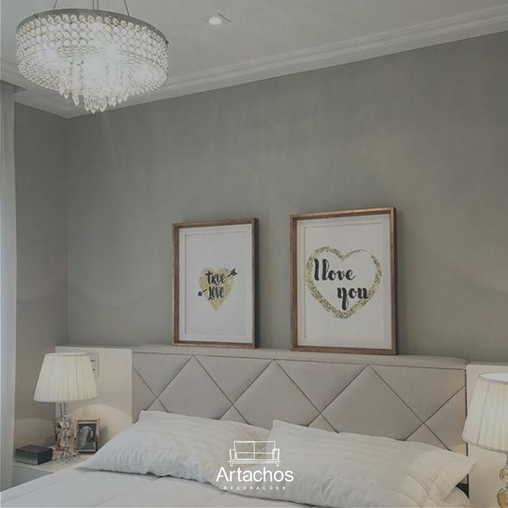 Cabeceira em cama de casal Artachos Decorações QuartoCamas e cabeceiras