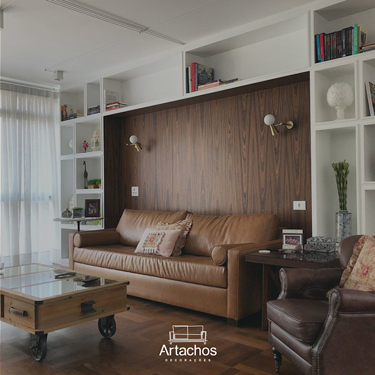 Sofá de couro Artachos Decorações Sala de estarSofás e divãs