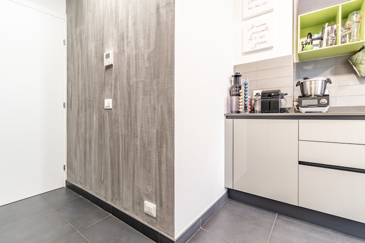 ARIA DI CASA Debra Sacchetti Pareti & Pavimenti in stile moderno Cemento