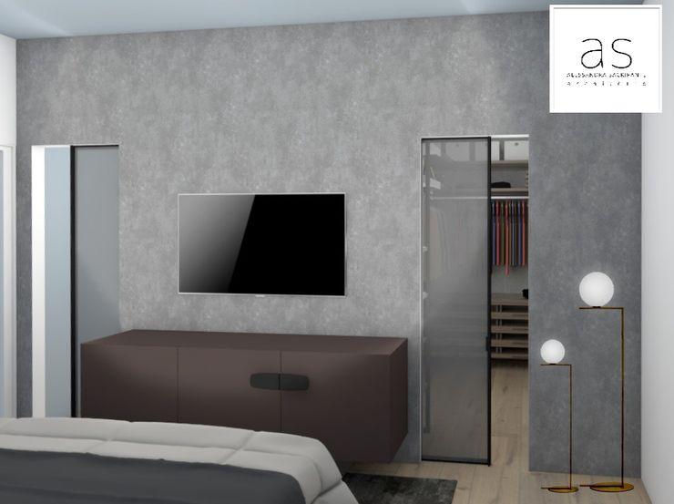 Parete tv Alessandra Sacripante Camera da letto moderna