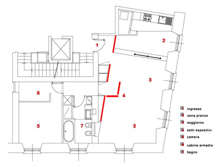 planimetria di progetto studio patrocchi