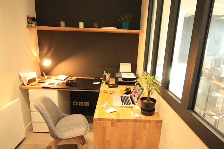 Bureau en chêne sur mesure SAB & CO Bureau moderne