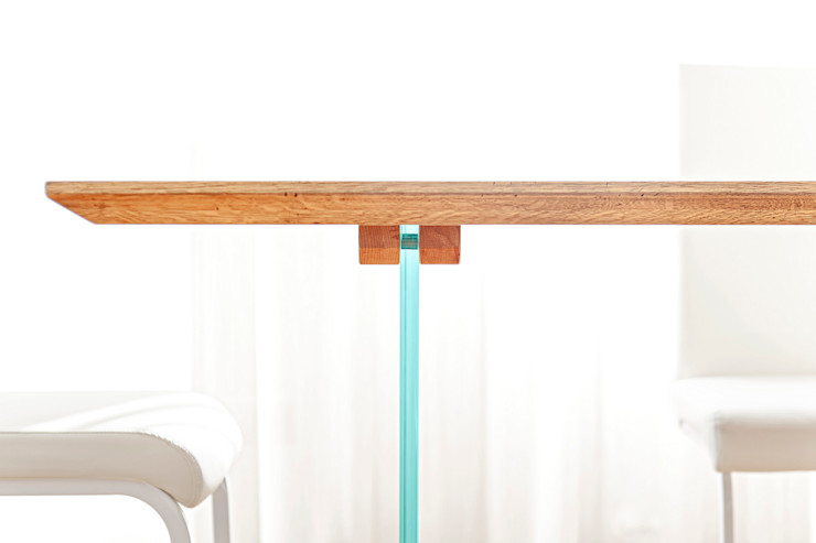 HUH (Hurry Up Home) Luca Bucciantini Architettura d' interni Sala da pranzo minimalista Legno Bianco