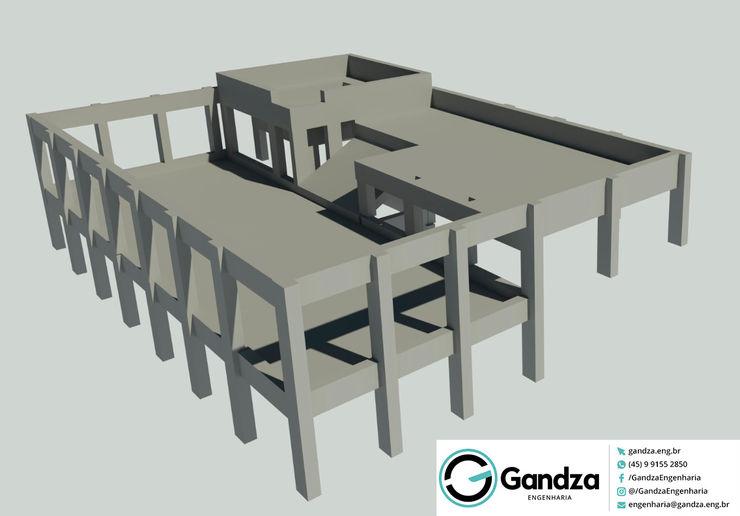 GANDZA ENGENHARIA Modern Pool Concrete