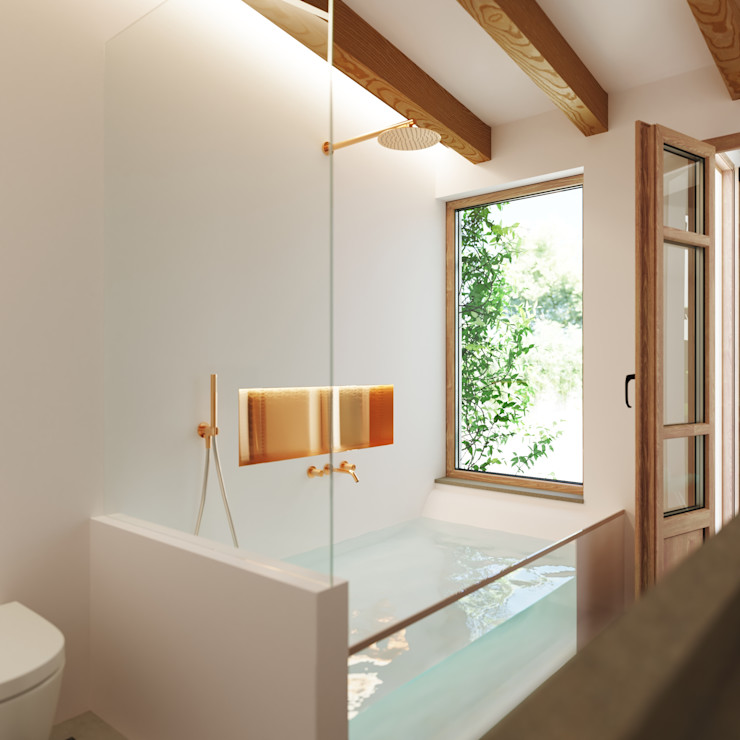 Vista del baño. ponyANDcucoBYgigi Baños de estilo mediterráneo
