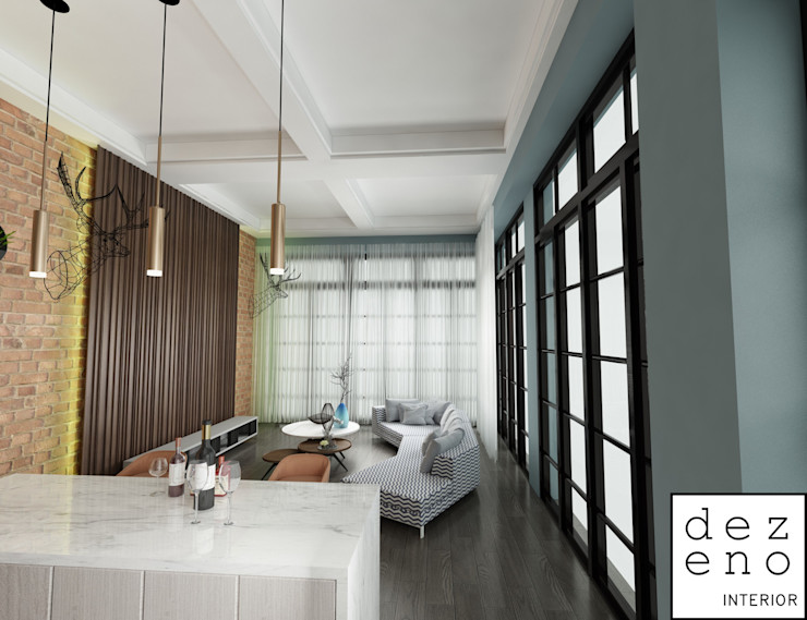 LIVING AREA Dezeno Sdn Bhd Modern Living Room White