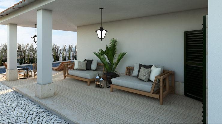 4Ponto7 Balcones, porches y terrazasMobiliario Madera Beige