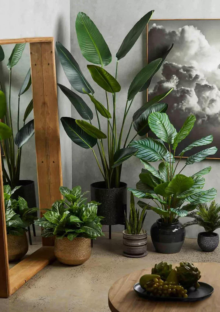 Indoor Artificial Potted Plants Sunwing Industries Ltd Commercial Spaces Plastic Green