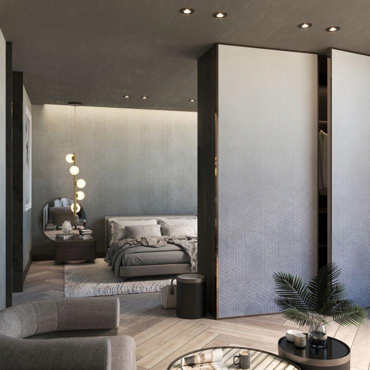 ARCHETIPO Alessia Damiano Pareti & Pavimenti in stile minimalista