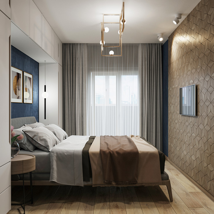 Проект маленькой спальни Мария Суслова дизайн интерьера & декор Маленькие спальни