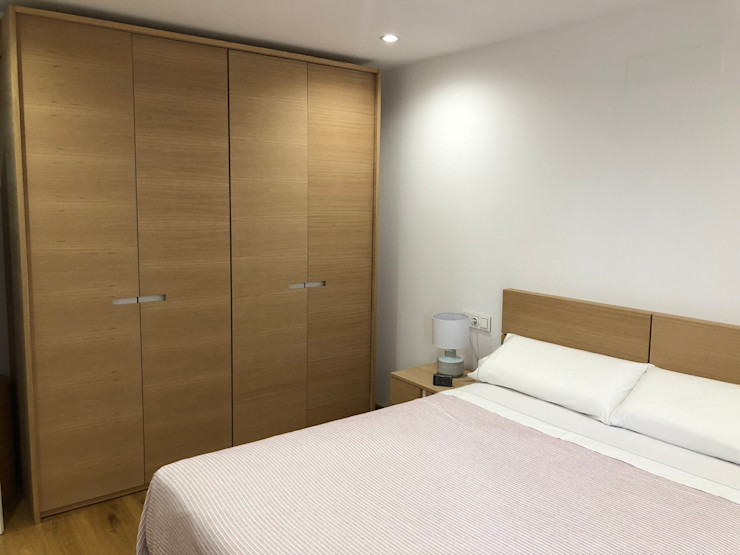 PROYECTO INTEGRAL PISO EN GRANADA inbasi Interiorismo y Decoración S.L.U. Dormitorios de estilo escandinavo