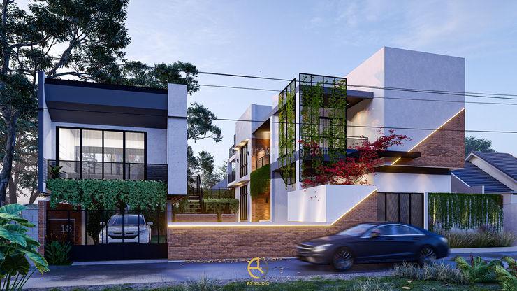 Rancang Reka Ruang Casas familiares Cinza