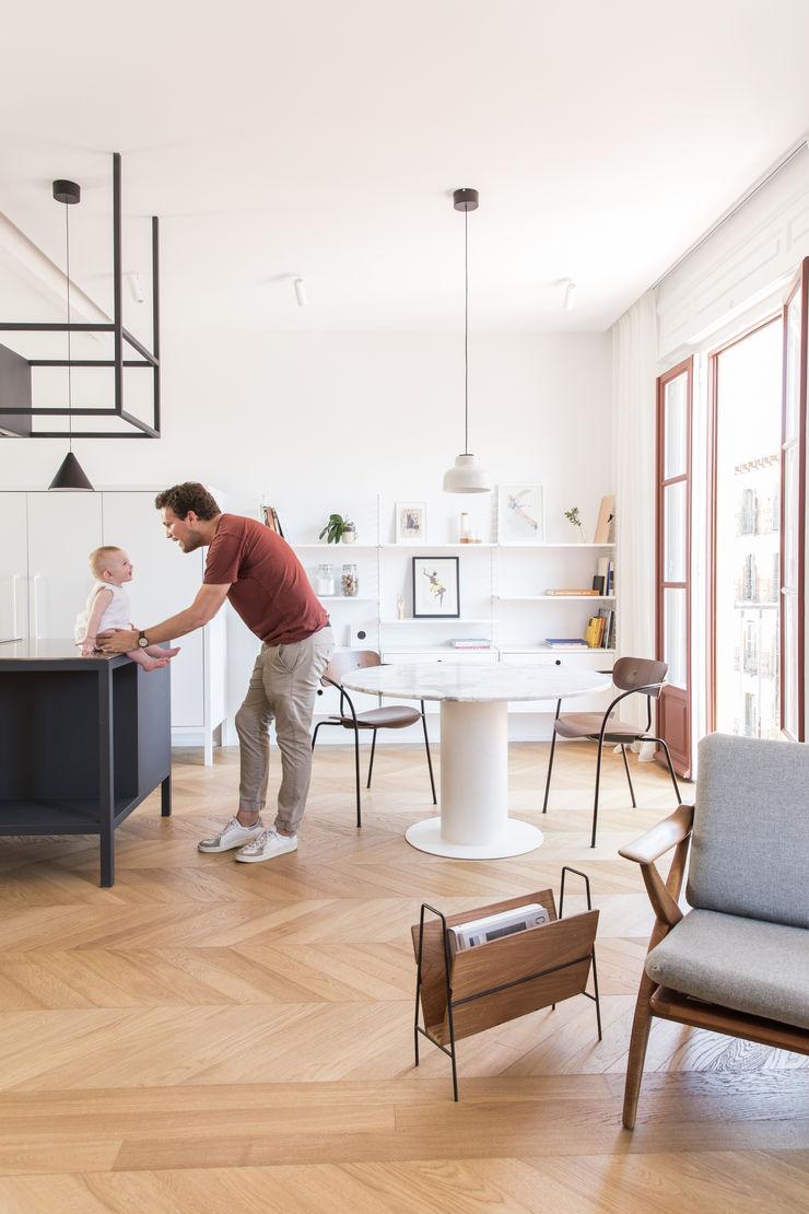 Plantea Estudio Ruang Keluarga Gaya Skandinavia