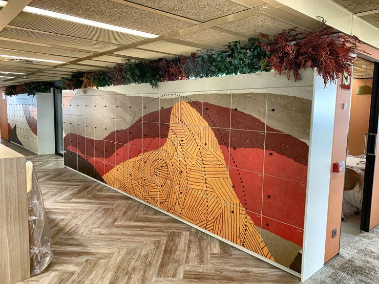 EUCALIPTOS PRESERVADOS Moss Deco Estudios y despachos de estilo mediterráneo Multicolor