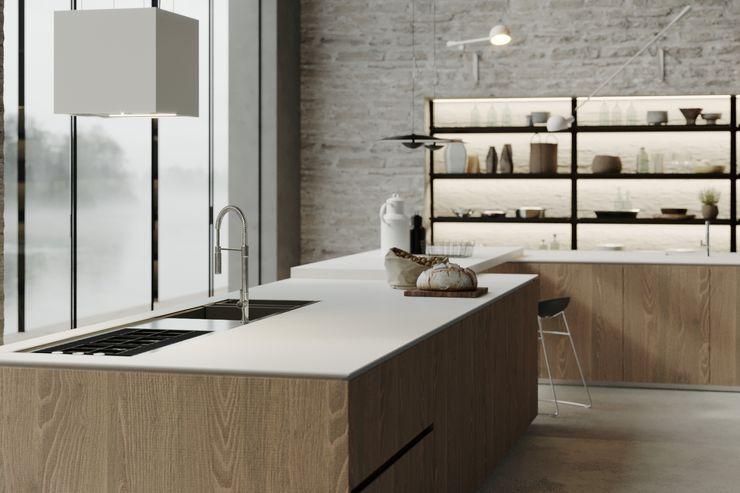 Cucina a Firenze Mandarò cucine Cucina attrezzata Quarzo Bianco