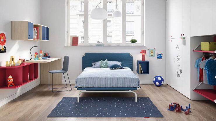 Cameretta bambino con letto 1 piazza e mezza TopArredi Camera da letto moderna Legno composito