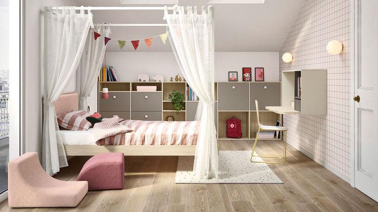 Cameretta bambino con letto a baldacchino TopArredi Camera da letto moderna Legno composito