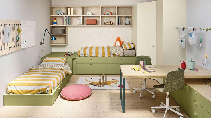 Cameretta bambini con cabina armadio TopArredi Camera da letto moderna Legno composito