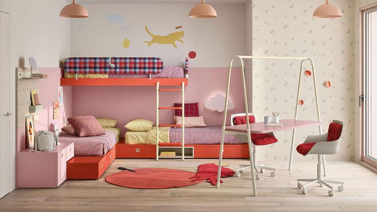 Cameretta bambine con scrivania ad altalena TopArredi Camera da letto moderna Legno composito