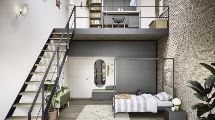 Camera ragazzi moderna su due piani TopArredi Camera da letto moderna Legno composito
