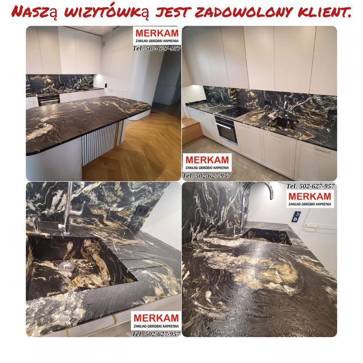 Merkam - Łódź ul. Św. Jerzego 9 KitchenBench tops Stone Brown