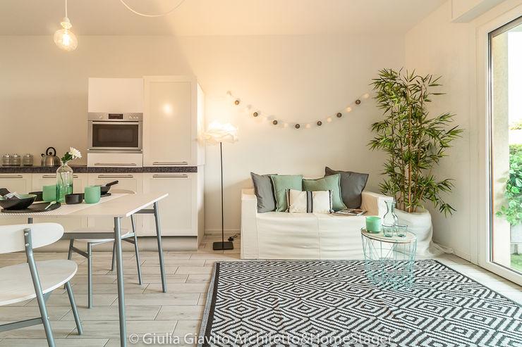 Sognando come Audrey, operazione immobiliare Giulia Giavito Architetto & Home Stager Sala da pranzo moderna