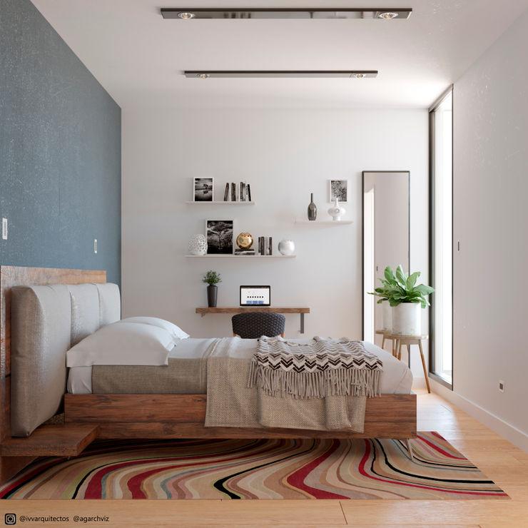 INTERIOR DESIGN BEDROOM 01 ivvarquitectos Dormitorios de estilo minimalista