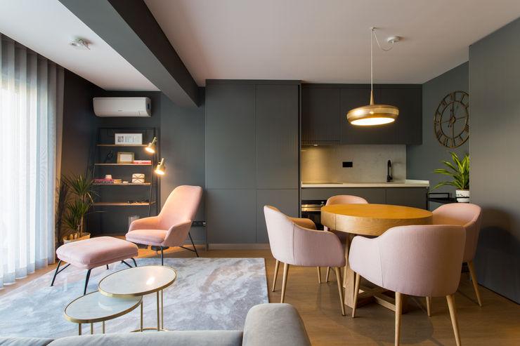 | Zona de Estar & Jantar | Traço Magenta - Design de Interiores Sala de jantarAcessórios e decoração Rosa