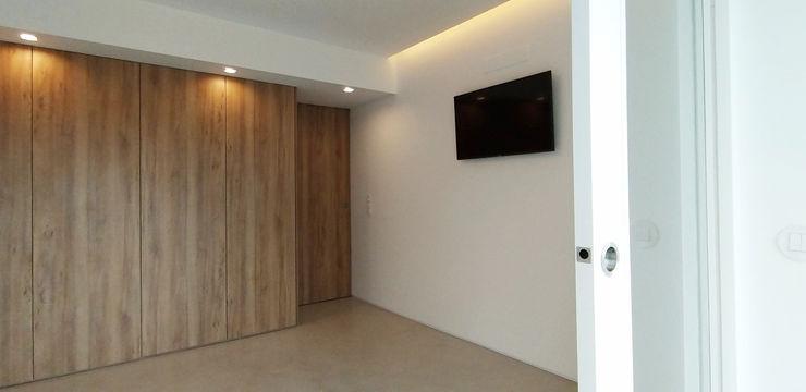 Quarto ARCHDESIGN LX Quartos minimalistas Madeira Acabamento em madeira
