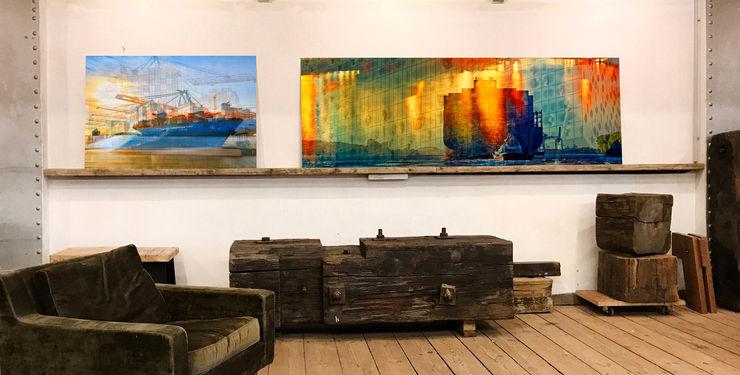 Exhibition, Speicherstadt von innen, eine Ausstellung, die man gesehen haben muss ArtSelbach Moderne Arbeitszimmer Aluminium/Zink Mehrfarbig