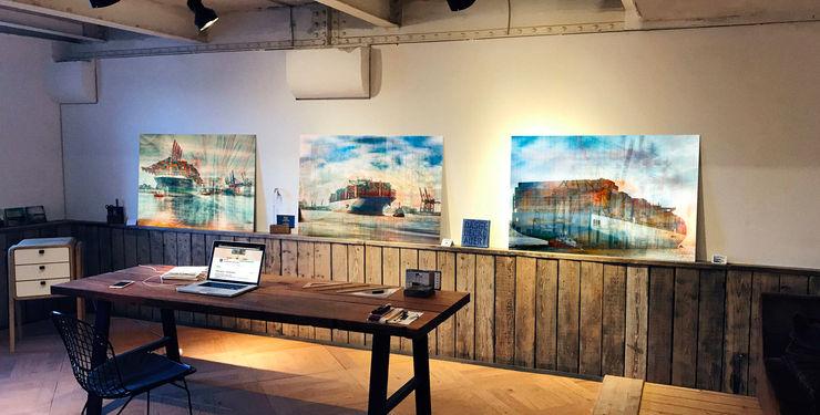 Beeindruckende Bildwerke in limitierter Auflage ArtSelbach Moderne Arbeitszimmer Aluminium/Zink Mehrfarbig