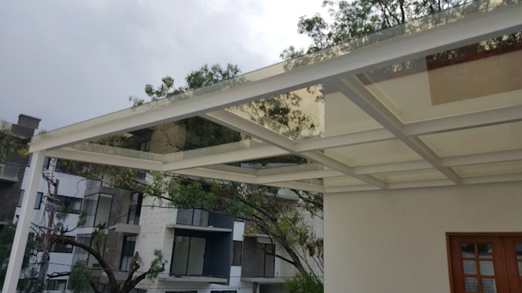 Merkalum Balcony Glass White