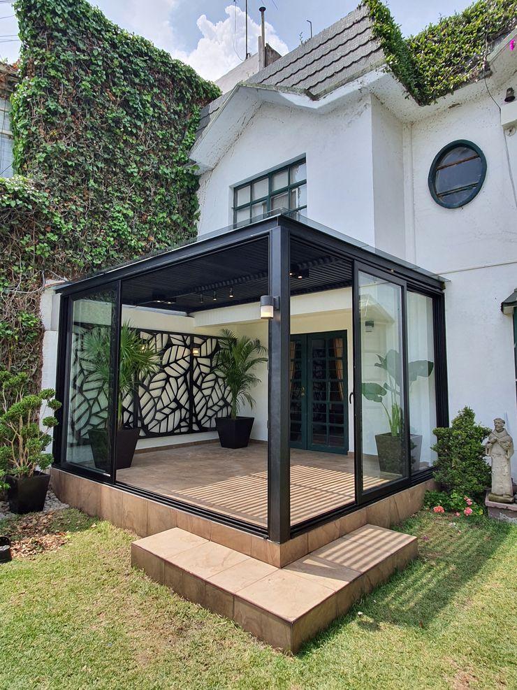 Merkalum Garden Shed Glass Black