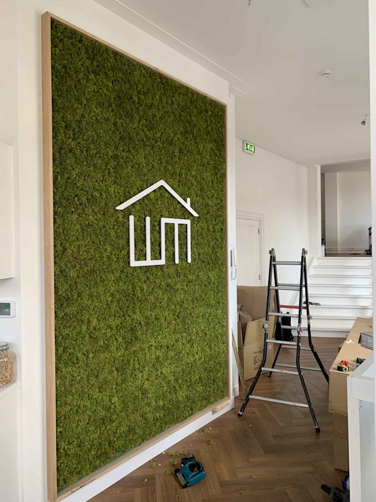 Indoor Artificial Moss Wall Sunwing Industries Ltd Country style offices & stores Green