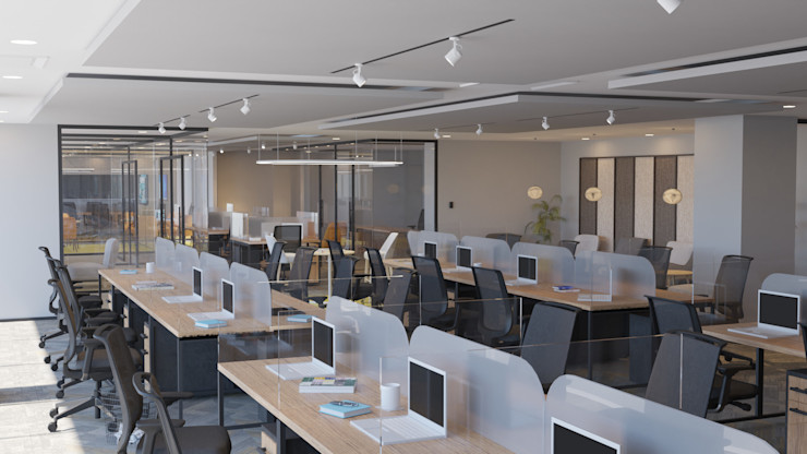 4 + Arquitectura Locaux commerciaux & Magasins Bois Multicolore