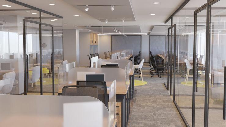 4 + Arquitectura Locaux commerciaux & Magasin modernes Verre Gris