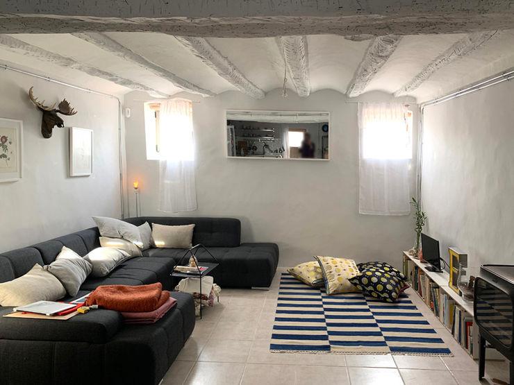 La casa VyF FGMarquitecto Salones rústicos de estilo rústico
