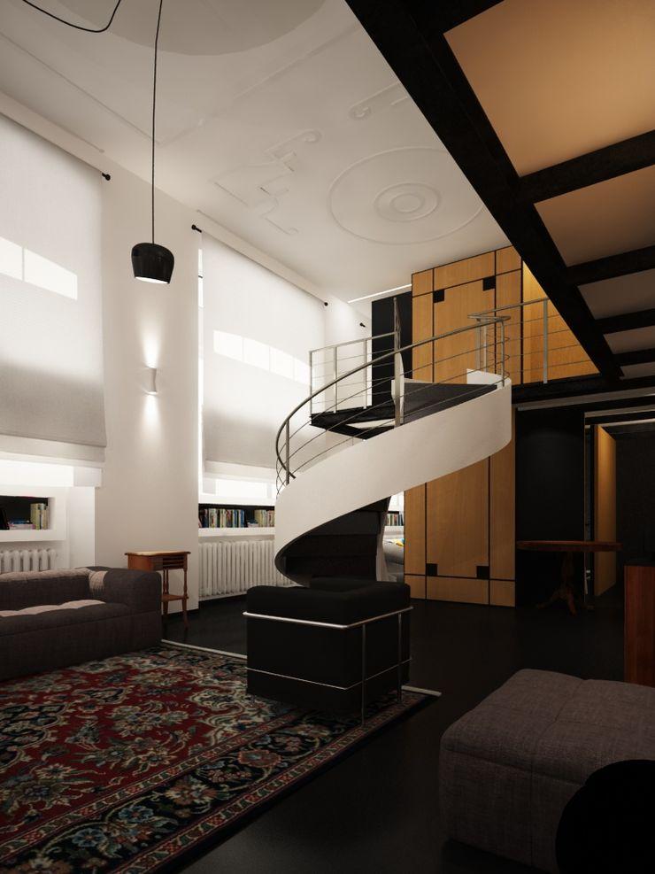 ibedi laboratorio di architettura Modern Living Room Silver/Gold Amber/Gold