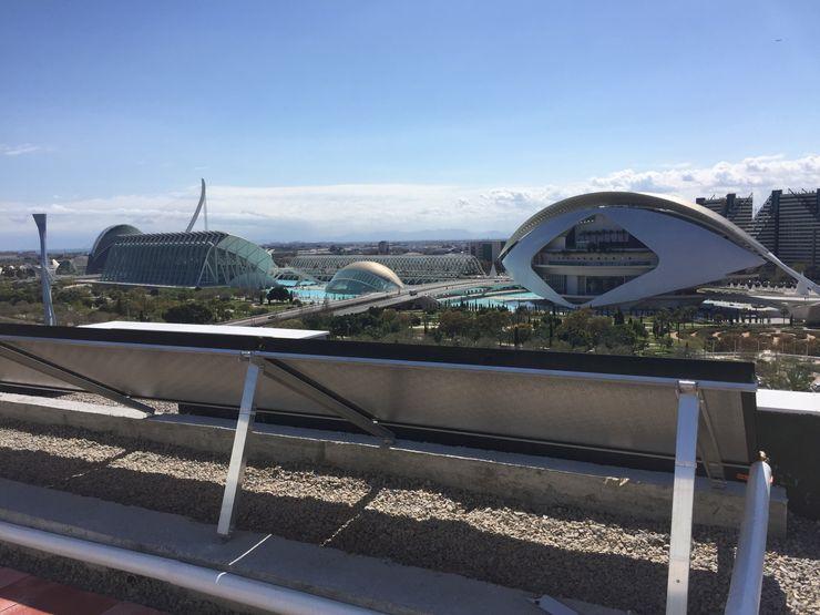 Estructura y anclaje paneles solares térmicos. AIRENTIS