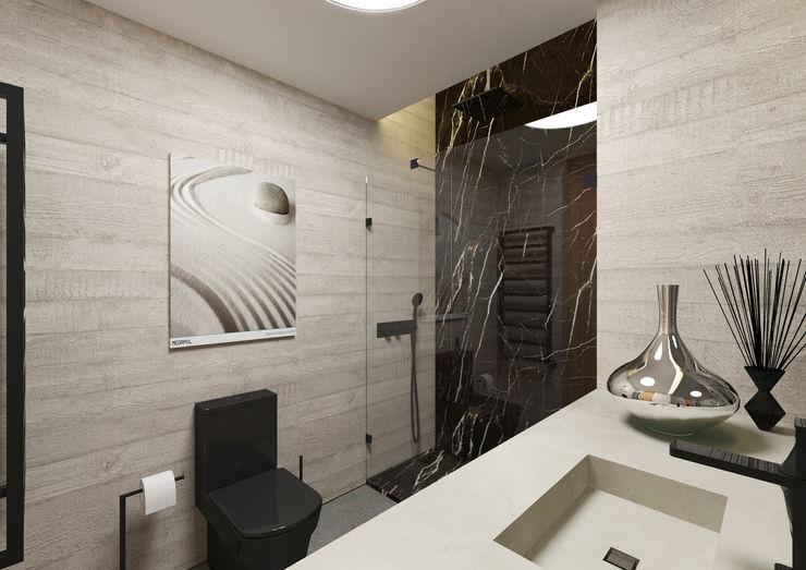 Casa de Banho ARCHDESIGN LX Casas de banho minimalistas Mármore Preto
