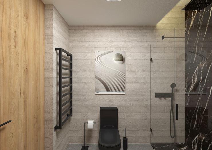 Casa de Banho ARCHDESIGN LX Casas de banho minimalistas Betão Cinzento