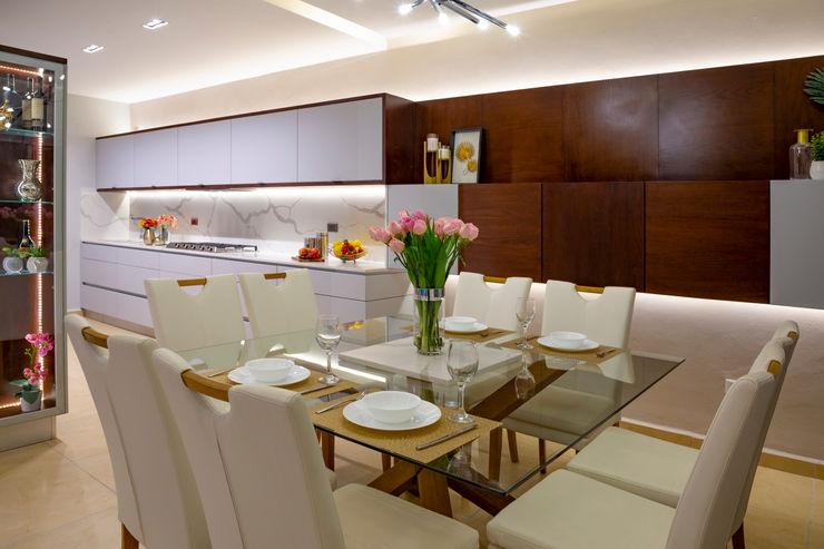 Luis Escalante Interiorismo Modern Dining Room Wood Wood effect
