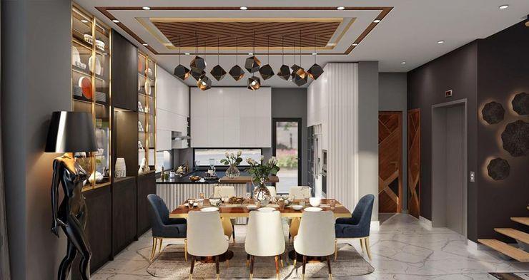 Dining Area HC Designs Dining roomTables Granite Grey