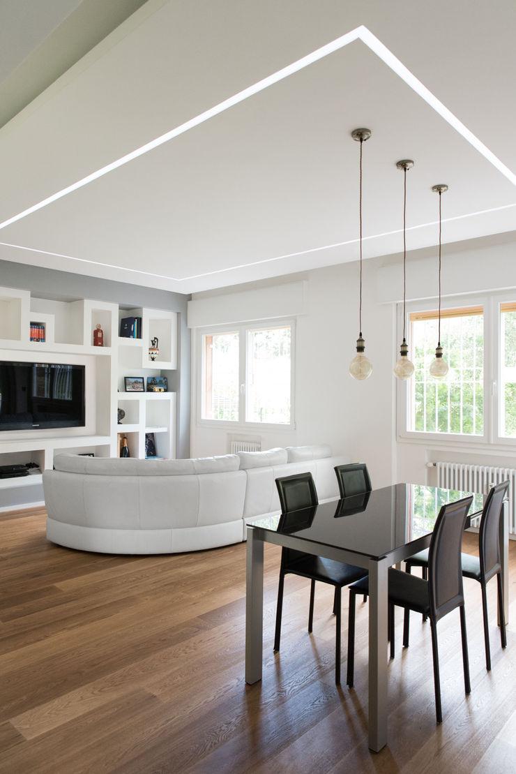 CASA D&E Andrea Orioli Soggiorno minimalista Cemento Grigio
